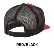 Flexfit-6006T-RedBlack-Back