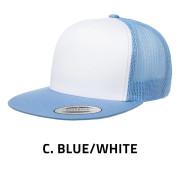 Flexfit-6006W-CarolinaBlueWhite