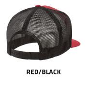 Flexfit-6006T-RedBlack-Back